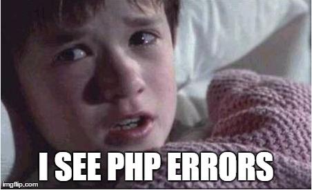 Meme: veo errores de php